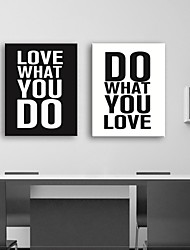 Stretched Canvas Print Art Life Quote Set of 2