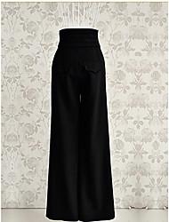 Da donna A zampa Jeans Pantaloni-Vintage Tinta unita Poliestere Micro-elastico All Seasons