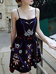 Women's Embroidery Backless Dress