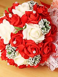 un bouquet de fleurs roses 23 pe de simulation de mariage bouquet de mariage mariée, tenue, 4 couleurs