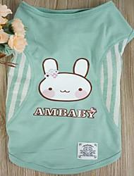 Dog Shirt / T-Shirt / Clothes/Clothing Green / Blue / Yellow / Rose Summer Stripe / Hearts Wedding / Cosplay