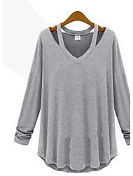 Sexy Langarm - FRAUEN - T-Shirts ( Baumwolle )