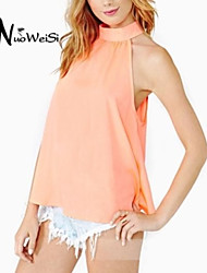 Women's Pink/Black Blouse Sleeveless