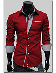 Joe Men's Fashion Casual All Match Long Sleeve Shirt