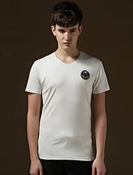 2015 New Mens Summer Tops Tees Short Sleeve t shirt Man,Men's T shirt mens brand fashion round neck T shirt men