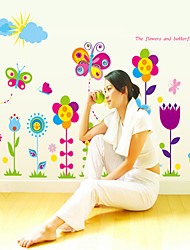 Wall Stickers Wall Decals, Style The Butterfly Flowers PVC Wall Stickers