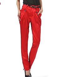 Women's Casual Inelastic Medium Harem Pants (Polyester)