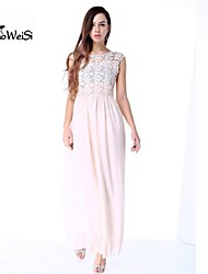 NUO WEI SI ®  Women's Fashion Chiffon Lace Cut Out Ankle Length Dress
