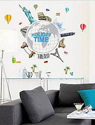 Environmental Removable Travelling Around The World PVC Wall Sticker