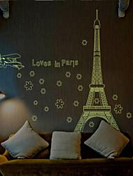 paris amovible sticker mural lumineux pvc environnement