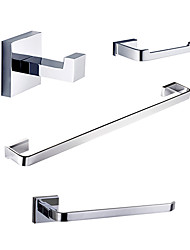Contemporary Chrome Wall Mounted Bathroom Accessory Sets
