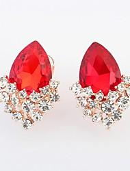 Stud Earrings Others Rhinestone Simulated Diamond Alloy Drop White Black Red Green Blue Jewelry 2pcs