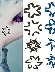 Flowers Uzumaki Vortex Spiral Flowers Tattoo Stickers Temporary Tattoos(1 Pc)