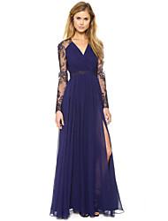 CYAY Women's Fashion Charm Long Lace Sleeve Dress