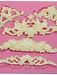European Lace Silicone Mold For Fondant Cake Decoration