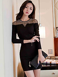 Xia.me  Women's European Fashion Casual Long Sleeve Dress
