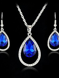Europe And The USA Section Droplet Type Alloy Necklace And Earrings Jewelry Set