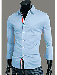 Men's Shirt Collar Casual Shirts , Cotton Long Sleeve Vintage/Casual/Party/Work Fashion Fall laughing