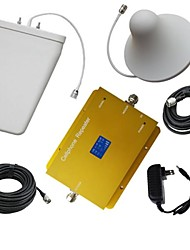 New Dual Band CDMA 850MHz PCS 1900MHz  Cell Phone Signal Booster with Log Periodic and Ceiling Antenna Kit