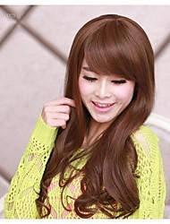 South Korea fashion big brown wavy curly hair