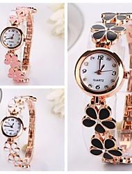 Women's Circular Surface Scale Five-petaled FlowersQuartz Wristwatches  (Assorted Color)C&d187 Cool Watches Unique Watches
