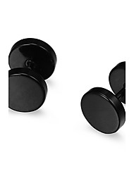 Earring Stud Earrings Jewelry Party / Daily / Casual Stainless Steel Black