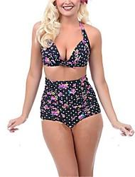 Women Nylon/Polyester Halter Bikinis/Tankinis