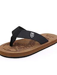 Men's Shoes Casual Fabric Sandals/Slippers Black/Brown