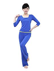 Mujer Yoga Tops Medias mangas Transpirable / Listo para vestir / Capilaridad / Compresión AzulYoga / Fitness / Deportes recreativos /
