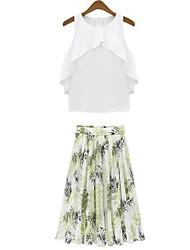 Women's Casual Micro Elastic Short Blouse Suits(Chiffon)