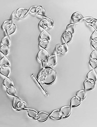 Europe and America  Fanshion   Women's Simplicity 8 Word Chain  Necklaces