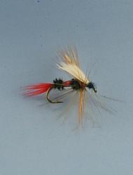 12pcs moscas secas Wulff reais para a truta voar tamanho pesca # 10