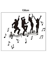 Fashion Music Dancers PVC Wall Stickers