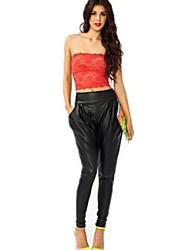 Women's Casual Stretchy Medium Harem Pants (Spandex/Polyester)