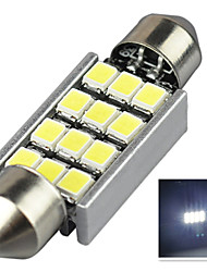 2.9W 12V 7000-8000K 39MM-2835-12SMD C5W with Radiator Canbus License Plate And Tail Box Lighting LED Light for Car