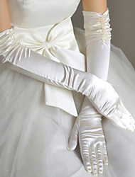 Women Party Satin Gloves