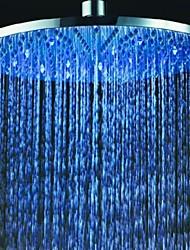 Chuveiro Tipo Chuva Contemporâneo LED / Efeito Chuva Aço Inoxidável Escovado