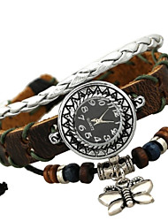 Women's Fashion Beaded Butterfly Vintage Bracelet Watch
