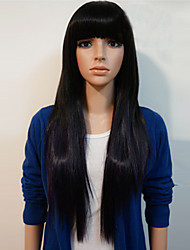 Cosplay Global Hot Models High-quality Synthetic Wig High Temperature Wire Straight Hair Black Long Straight Hair