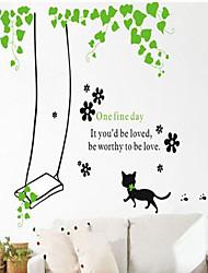 decalques de parede adesivos de parede, estilo os gatos balanço pvc adesivos de parede