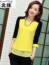 Color matching chiffon blouse high-quality version of SY4519