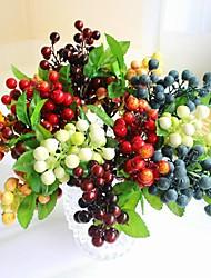 Калифорния искусственного вспененного полиэтилена солнце ягоды фрукты дома декоративные цветы Свадебные украшения 10pcs (больше цветов)