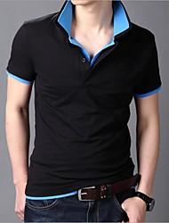 Polos ( Blau/Grün/Rosa/Gelb , Baumwolle ) - für Freizeit - für MEN - Reine - Kurzarm