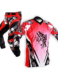 Motoboy Men's Professional Offroad Racing Motocross Polyester Jersey Shirt and Pant Suit Set with Transferred Printing