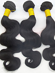 "3Pcs Lot 10""-28"" Brazilian Virgin Human Hair 100% Natural Black Curly Virgin Hair Body Wave Wholesales Hair Products"