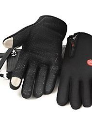 Polar Fleece Zipper Design Touch Screen Gloves