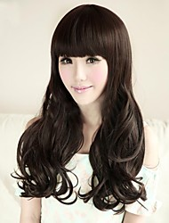 Fashion Natural Black Big Waves Of High Quality Synthetic Hair
