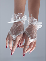 Bride Fingerless Wrist Length Party/ Evening Gloves