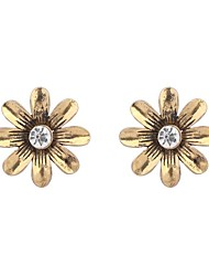 Women's Elegant Exquisite Rhinestone Daisy Floral Stud Earrings