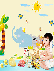 Wall Stickers Wall Decals, Style Happy Zoo PVC Wall Stickers